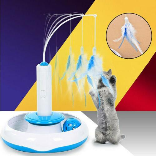 Electric Pet Rotating Multifuncition Funny Feather Cat Toys