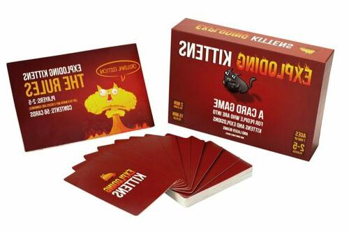 Exploding Kittens Card Original Edition In Box,