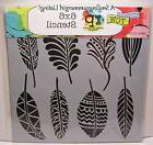 6x6 Fancy Feathers Design Crafters Workshop Mixed Media Art
