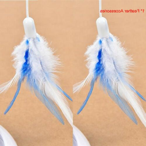 Feather Teaser Cat Multifunction Rotating Pet New