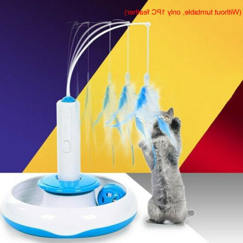 Feather Multifunction Electric Interactive Rotating Pet