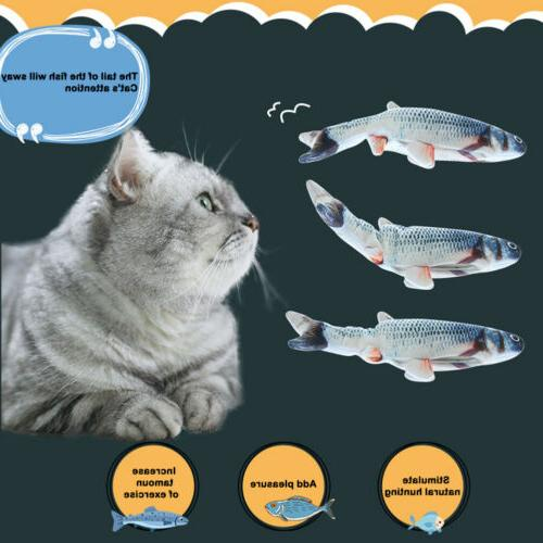 1x Fish Toy For Cat Electric Moving Flopping USA