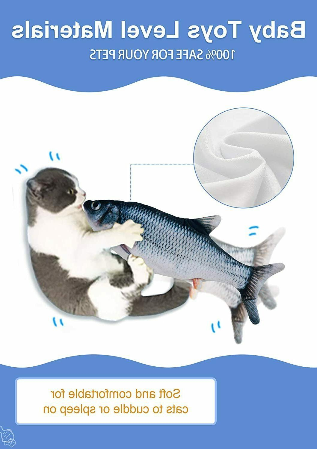Cat Toys Fish Moving Toy Electric Realistic Fish