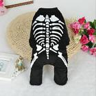 Halloween Skull Dog Clothes For Pets Cat Coat Costume Outfit