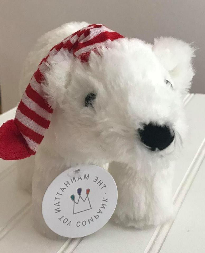 Manhattan Toy Holiday Voyagers White Polar Bear Stuffed Anim
