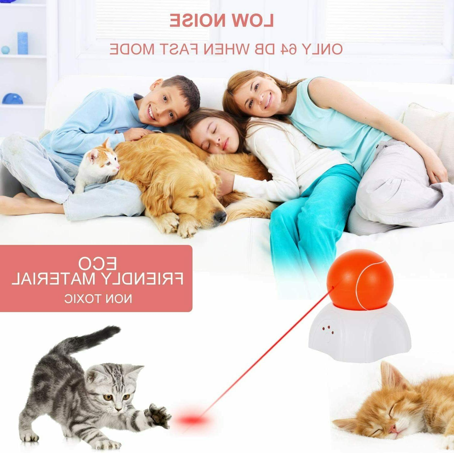 Interactive Cat Moving Laser Ball Toys for Indoor