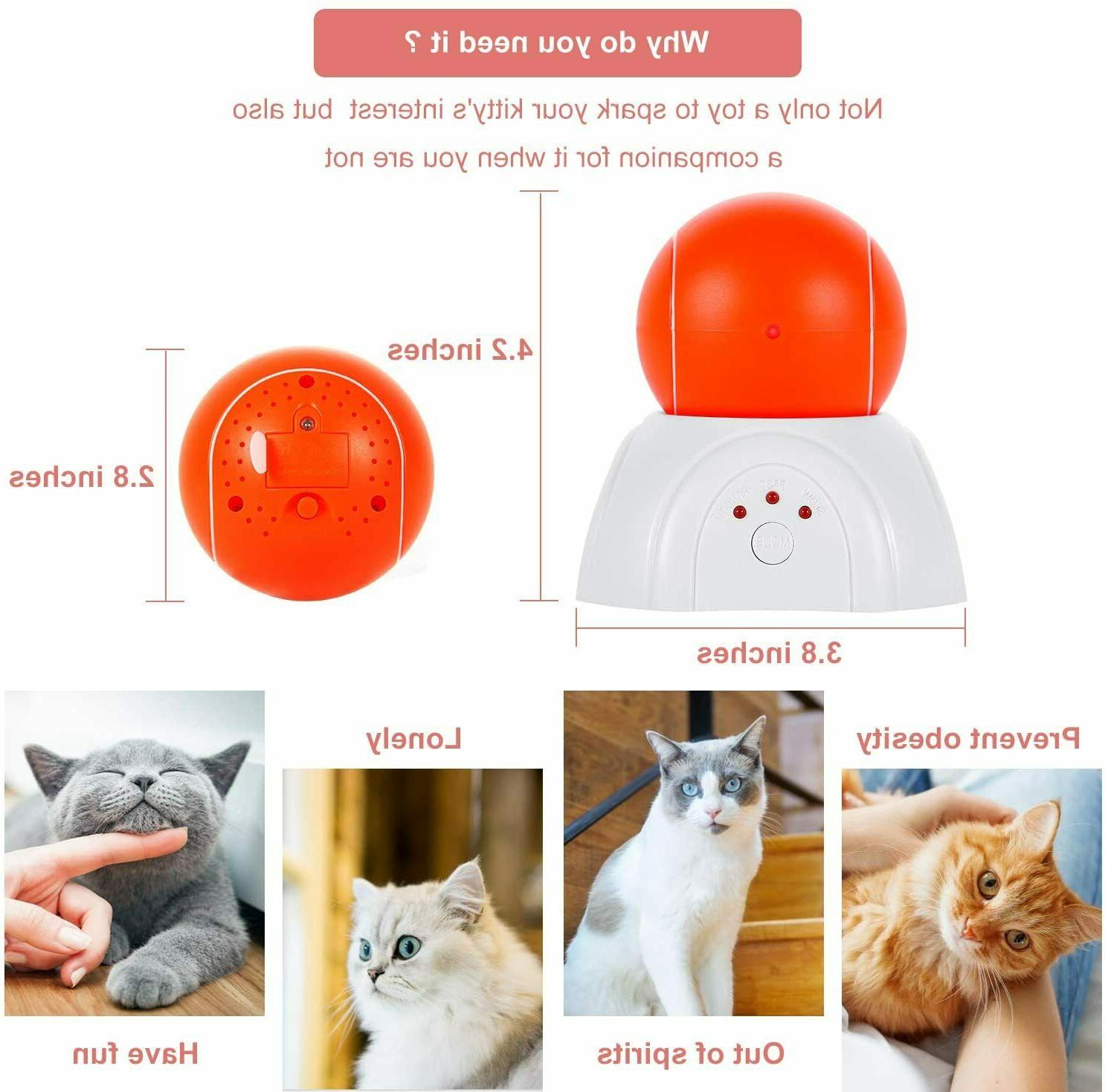 Interactive Moving Laser Ball Toys Indoor