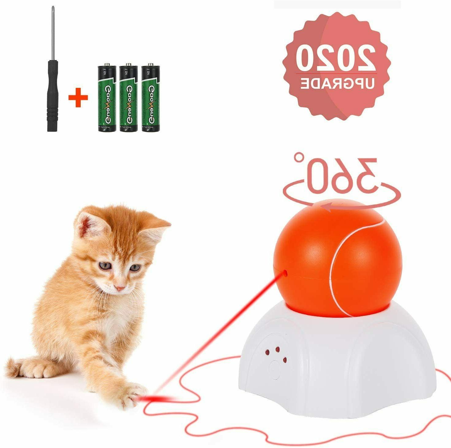 interactive cat toy moving laser ball interactive