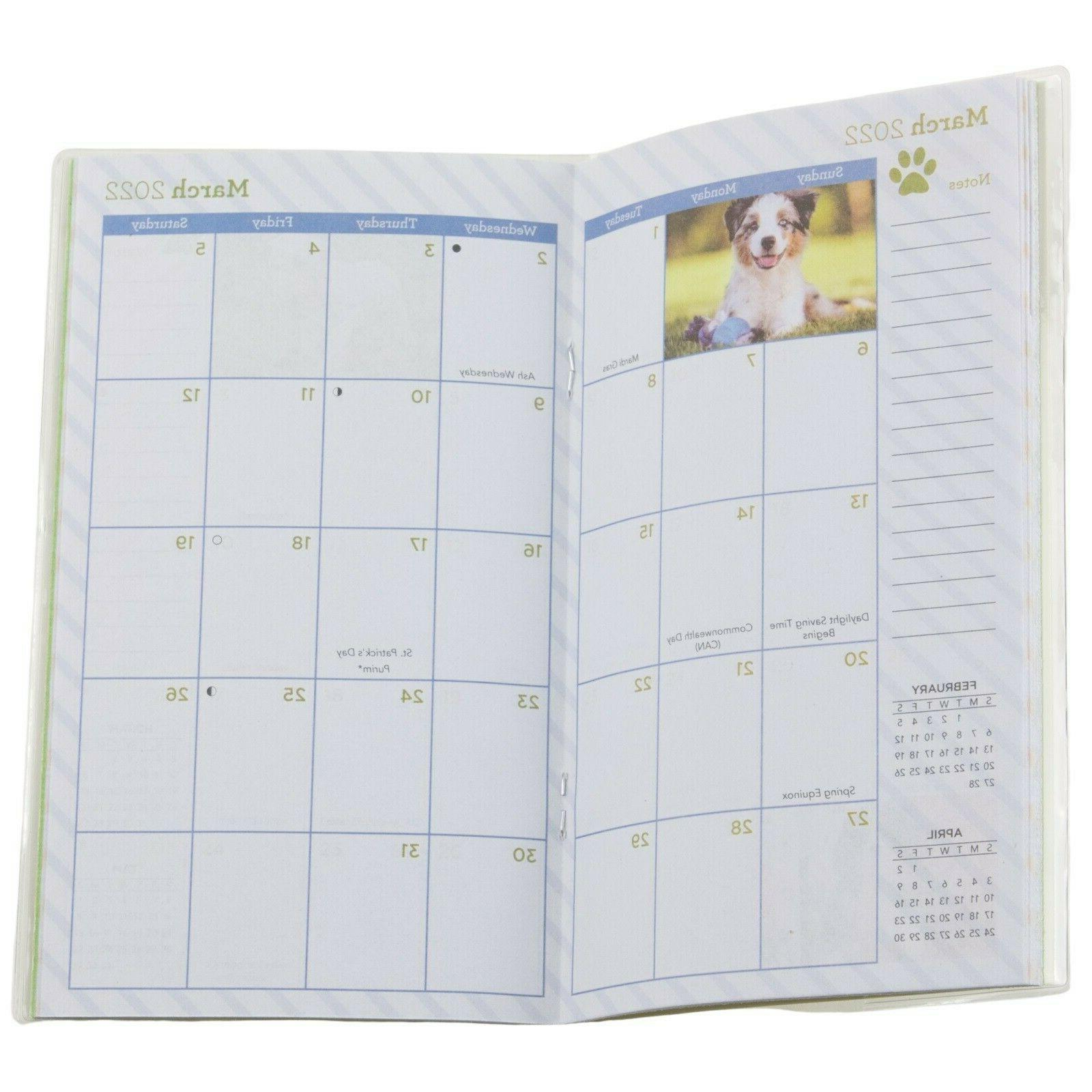 Kittens Cats Puppies Flowers Year Monthly Pocket Planner