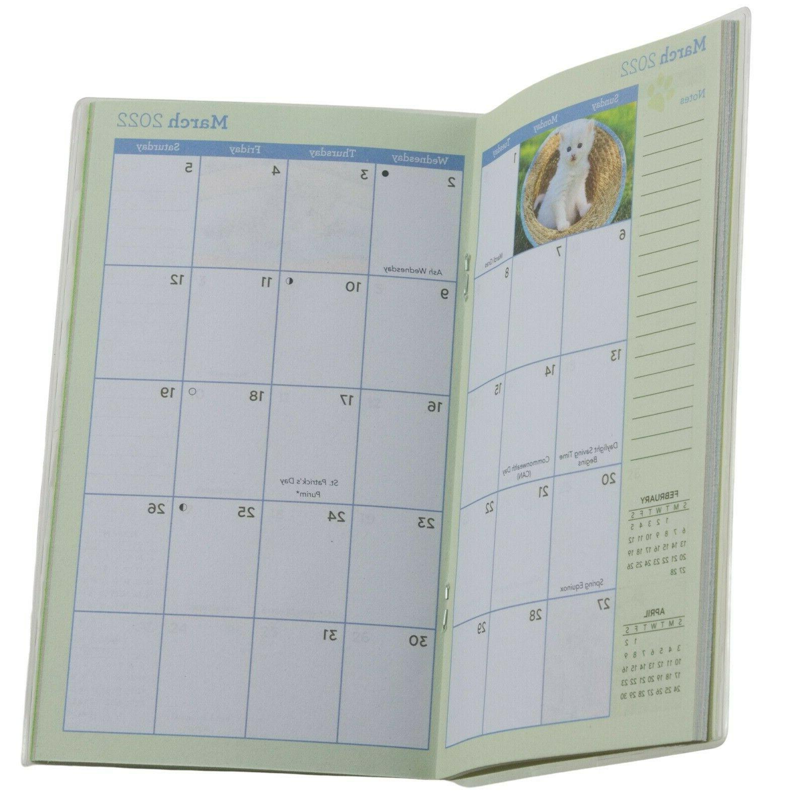 Kittens Cats Puppies Flowers Two Year Monthly Planner