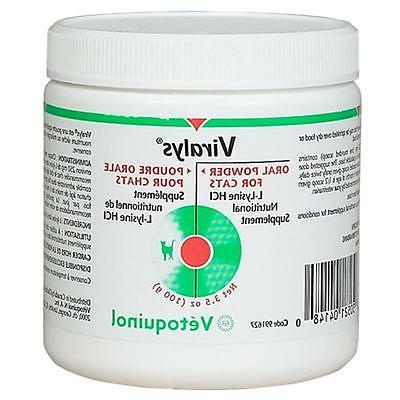 Viralys L-Lysine 100 gm Powder for Cats  FREE SHIPPING