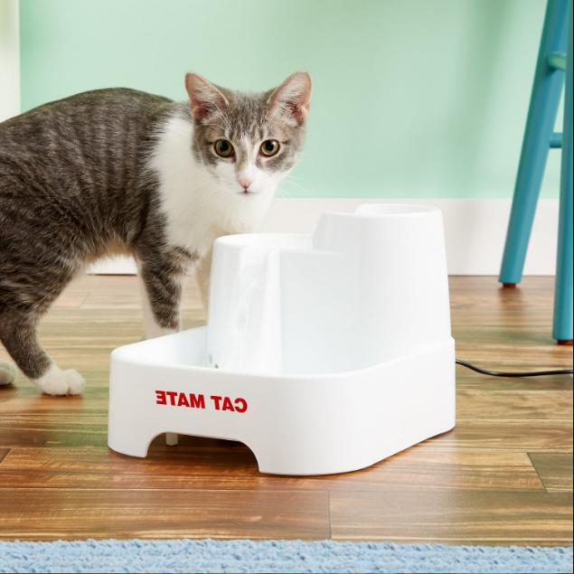 CAT MATE LARGE PET FOUNTAIN CATS 2 LITRES OF FRESH DRINKING