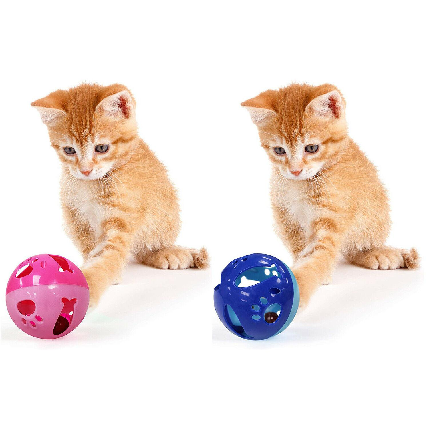 large size cat ball with bell toy