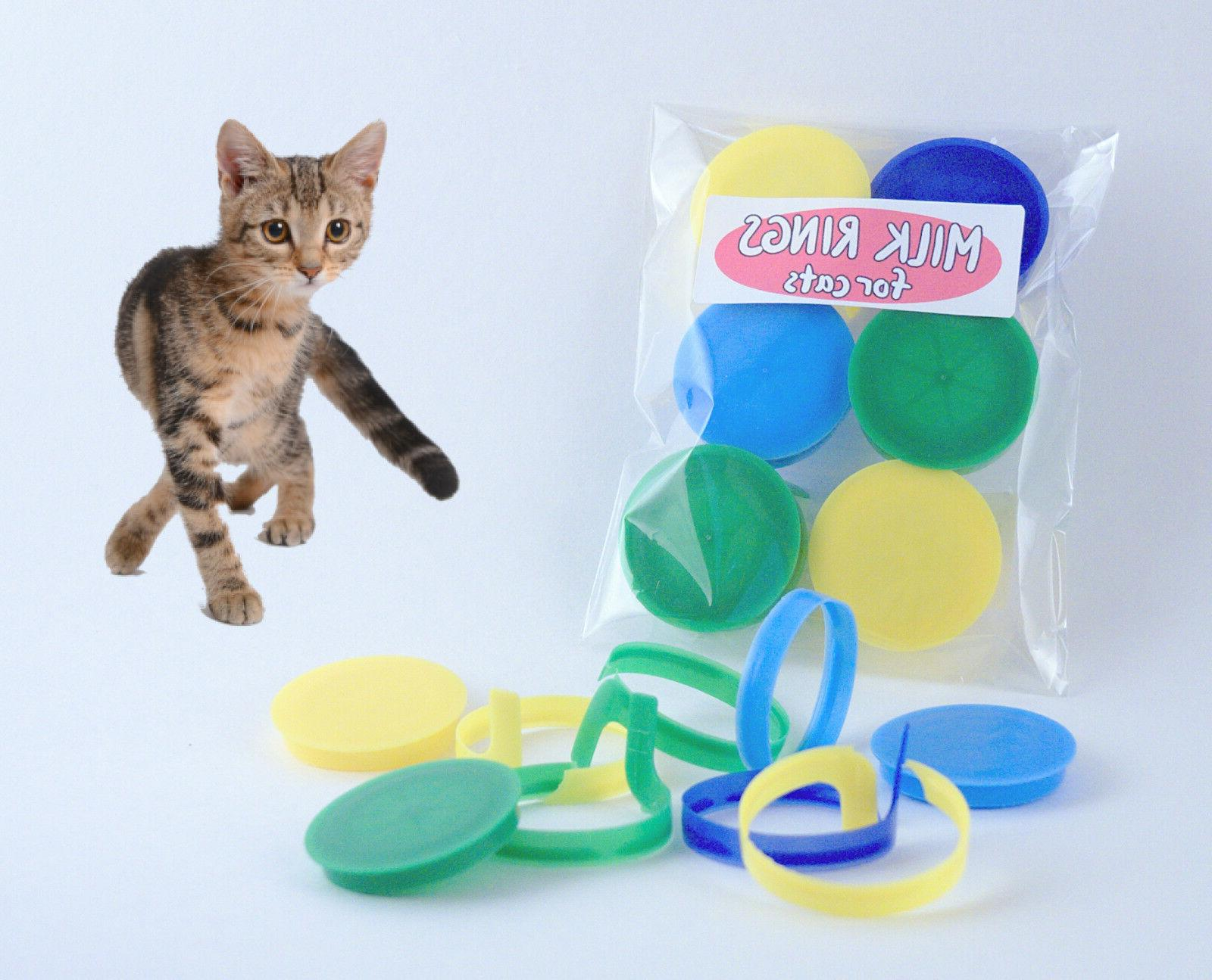 milk cap toy for cats with irresistable