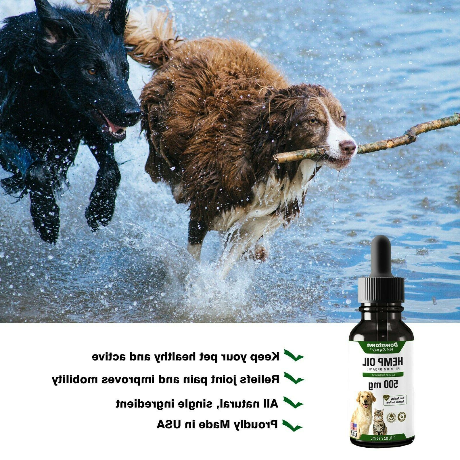 Organic 2 Pack Hemp Seed Dogs Cats 100% Joint - 500MG