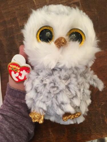 TY OWLETTE FUZZY OWL BEANIE BOOS-NEW, MINT TAG *IN HAND*