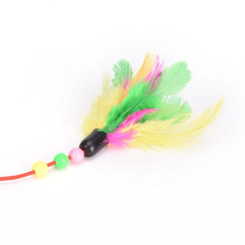 Pet cat bird colorful teaser wand for cats