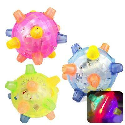 Pet Dog Cat LED Flashing Play Ball Toy for Games Jumping Jog