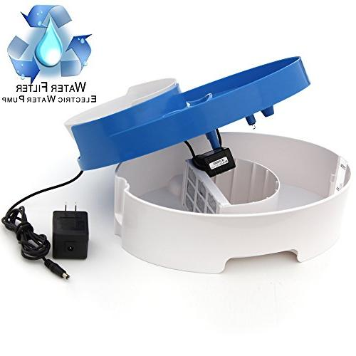 OxGord Pet & Food Bowl Feeder for Cats Water