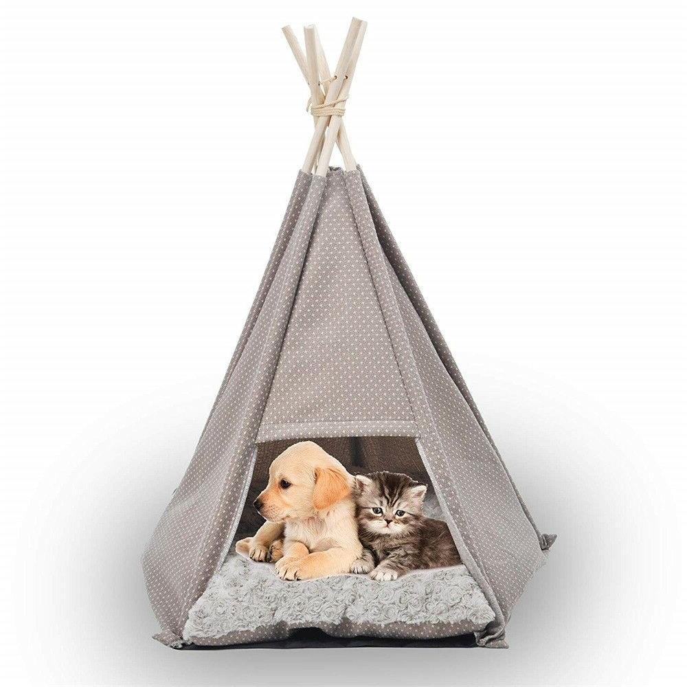 pet tent house bed portable teepee kennel