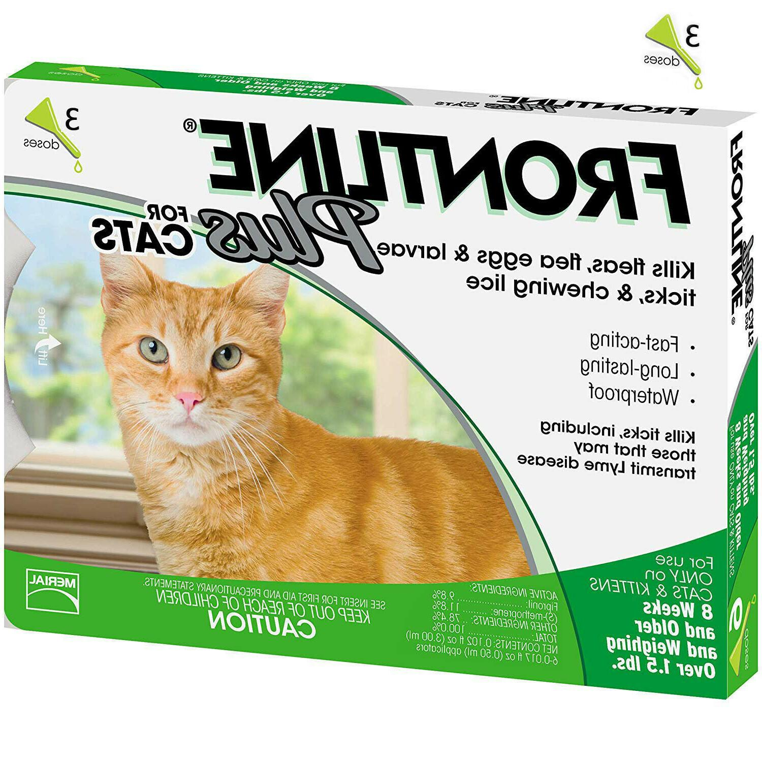 plus for cats 3 doses sealed flea