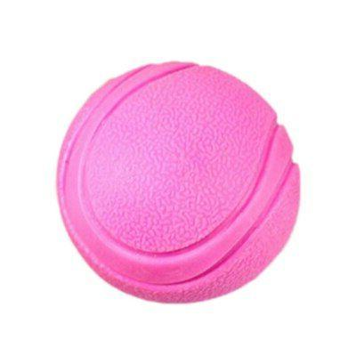 Solid Rubber Ball Chew Toy For Fetch Bite Dogs Cats