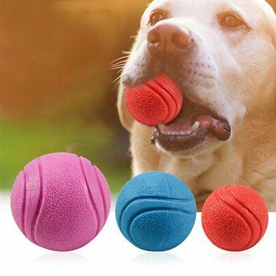 solid rubber ball chew toy for training