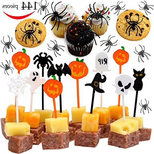 spider ring cupcake toppers halloween