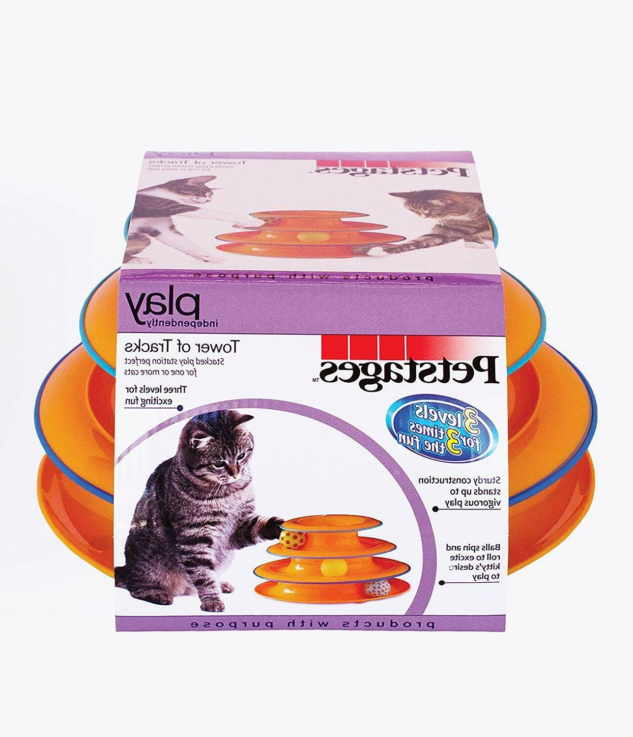 Petstages Tracks Ball and Track Interactive Toy for Cats, Cat Game