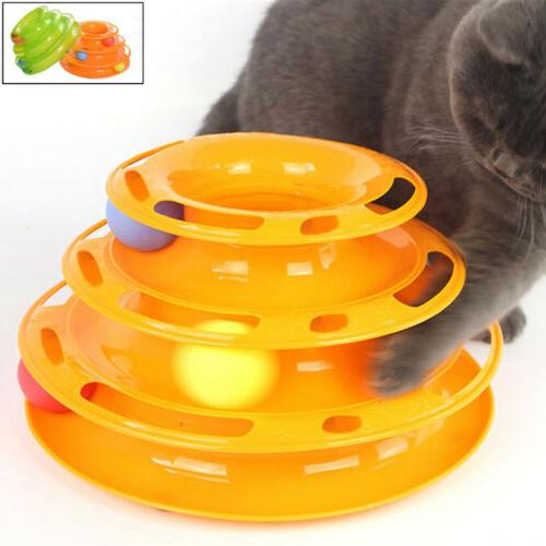 Tower of Tracks Ball &Track Interactive Toy for Cats Fun Cat