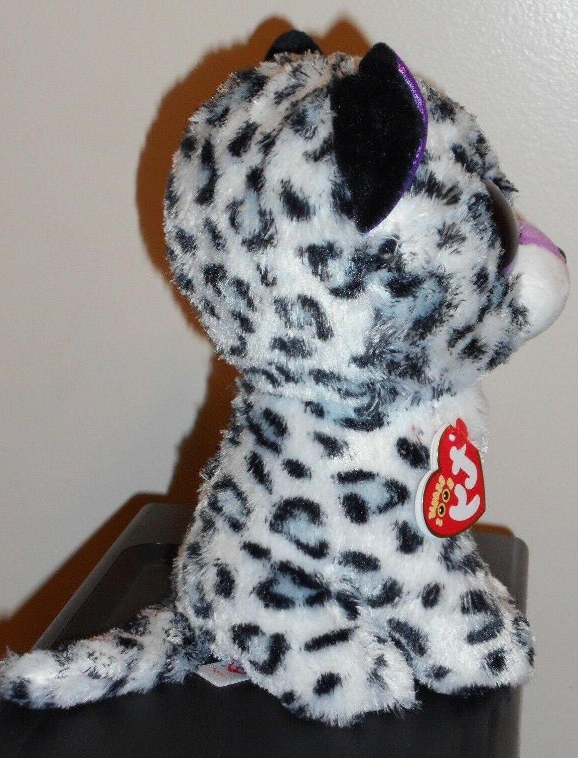 Ty Beanie VIOLET Cat Medium Buddy Claire's NEW