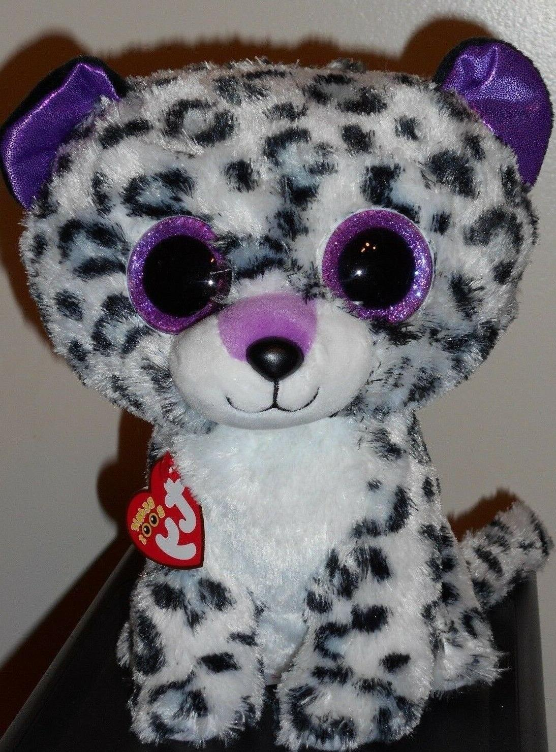 ty beanie boos violet the leopard cat