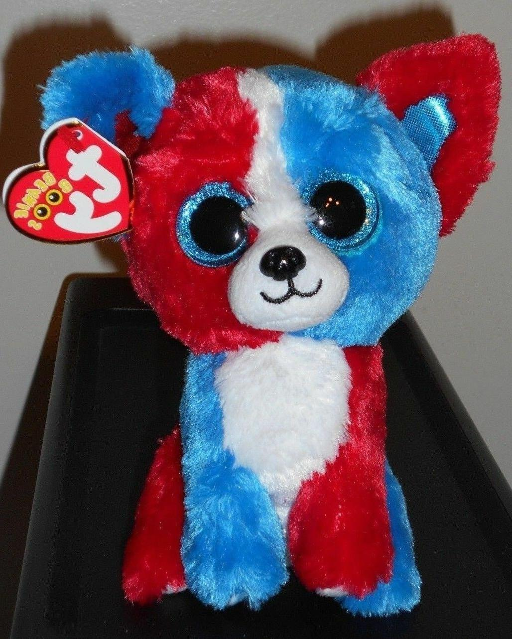 "Ty Beanie Boos - VALOR the 6"" Cracker Barrel Patriotic Dog~"