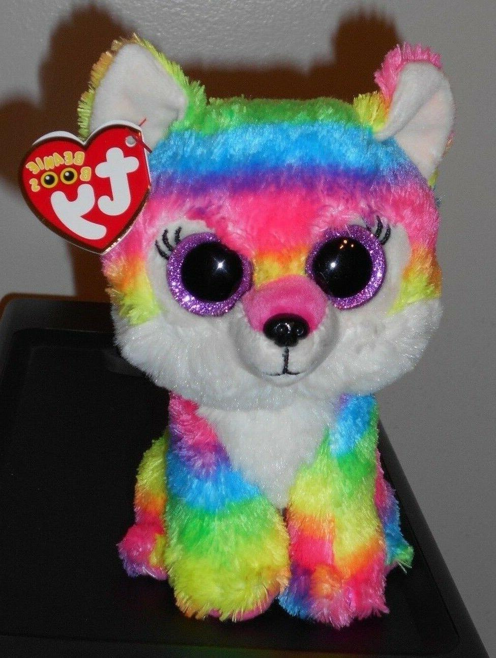 "Ty Beanie Boos ~ RIVER the 6"" Multi Color Wolf ~ Great Wolf"