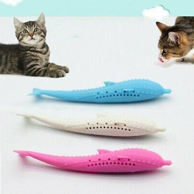 US Cat Shape Silicone Stick Toy for
