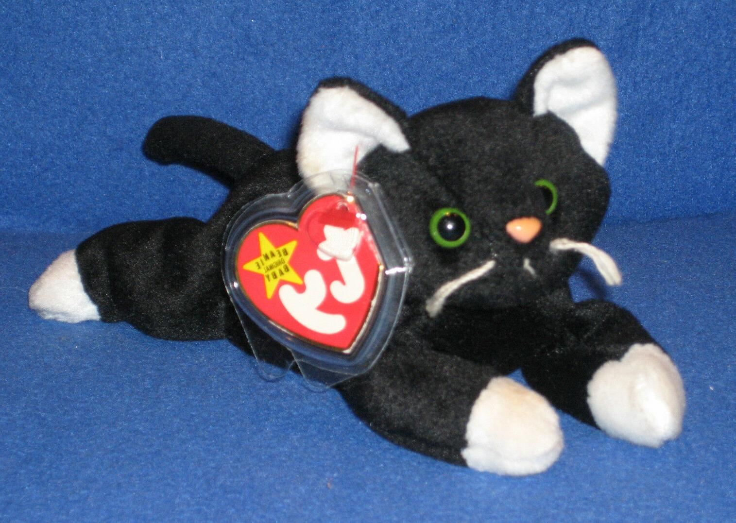 TY ZIP the CAT BEANIE BABY - MINT with MINT TAGS