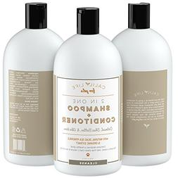 Calily Life Organic Oatmeal Dog and Cat Shampoo + Conditione