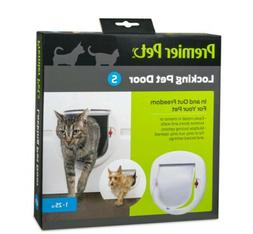 Premier Pet Locking Pet Door for Cats or Small Dogs up to 25