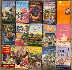 Lot of 15 Cozy Mystery Books Like New Mysteries cats female