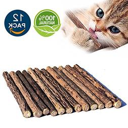 Matatabi Cat Catnip Sticks 12pcs Cat Chew Sticks Dental Clea