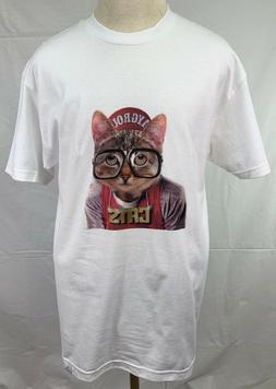 Men's Upper Playground White Cats From Mars Classic Cotton T