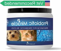 Nusentia Miracle Probiotics for Dogs Cats Skin Coat Digestiv