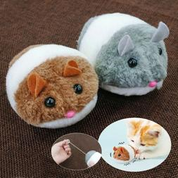 Motor Toy Mouse for Cats Mechanical Robot Plush Fur Mice Toy