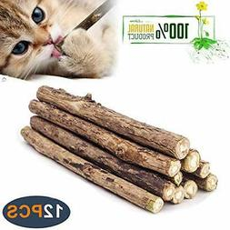 WoLover Natural Silvervine Sticks for Cats, Catnip Sticks Ma