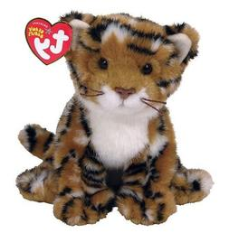 "New! Ty Beanie Babies Baby Stripers Tiger Cub Cat 6"" Plush S"
