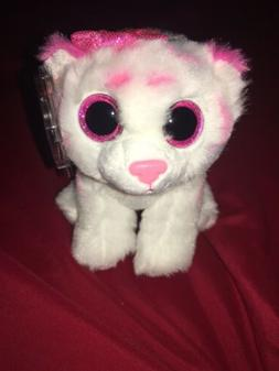 """NEW Ty Beanie Boos Purrcilla the Cat with Pink Bow 6"""" NWT Cu"""