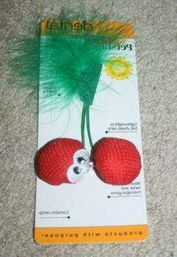 NEW Petstages Dental Cherries w/Catnip for Cats Chew Toy