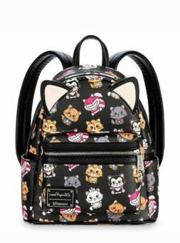 NEW Disney Parks Loungefly Exclusive DISNEY CATS Mini Backpa