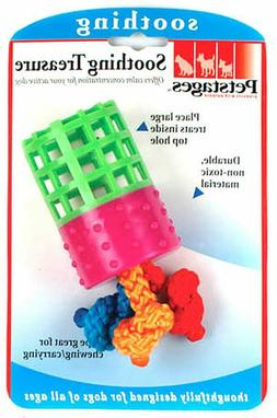 New Dog Puppy Toy Petstages Soothing Treasure Treat Dispensi