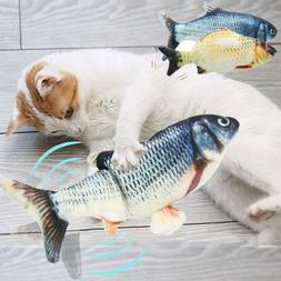 New Electric USB Floppy Moving Fish Cat Toy, Realistic Plush